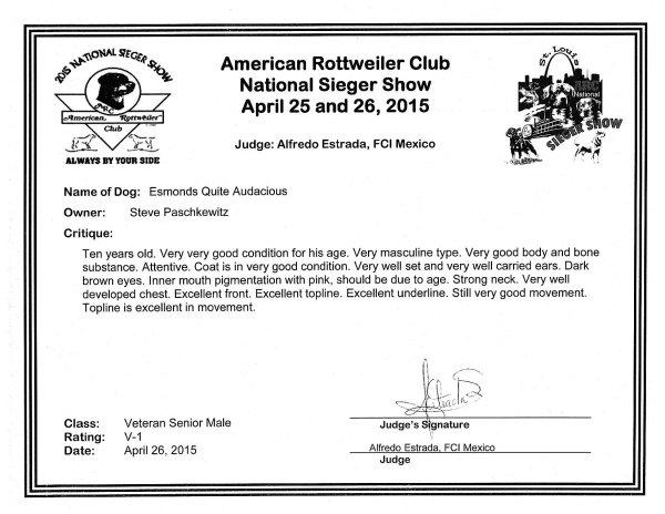 American rottweiler club top 10